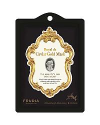 Frudia Royal de Caviar Gold Mask - Тканевая лифтинг-маска с икрой, пептидами и скваленом 20 мл