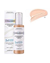 Enough Collagen Whitening Foundation 3 in 1 - Тональная основа с колагеном 13 тон 100 мл