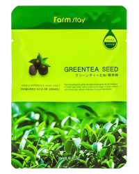 FarmStay Visible Difference Mask Sheet Green Tea Seed - Маска тканевая с экстрактом зеленого чая  23 мл