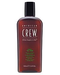 American Crew 3 in 1 Tea Tree - Средство по уходу за волосами и телом 100 мл