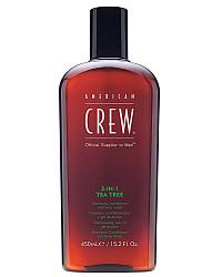 American Crew 3 in 1 Tea Tree - Средство по уходу за волосами и телом 450 мл