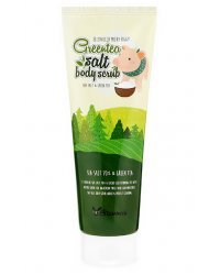 Elizavecca Green Tea Salt Body Scrub - Скраб для тела с экстрактом зеленого чая 300 гр