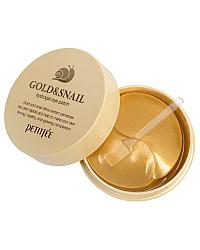 PETITFEE Gold & Snail Hydrogel Eye Patch - Гидрогелевые патчи для области вокруг глаз 60 шт