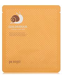 PETITFEE Gold & Snail Hydrogel Mask - Маска для лица гидрогелевая с коллоидным золотом и муцином улитки 50 гр