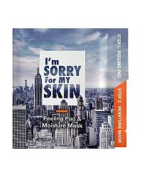 I'm Sorry For My Skin Peeling and Moisture Mask - Набор для эксфолиации и увлажнения кожи лица 22 мл