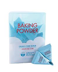 Etude House Baking Powder Crunch Pore Scrub - Скраб для лица с содой в пирамидках 24 шт