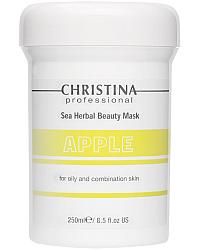 Christina Sea Herbal Beauty Mask Green Apple - Яблочная маска красоты для жирной и комбинированной кожи 250 мл