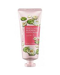 FarmStay Pink Flower Blooming Hand Cream Water Lily - Крем для рук с водяной лилией 100 мл
