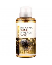 FarmStay Pure Natural Snail Cleansing Water - Вода очищающая с экстрактом муцина улитки 500 мл