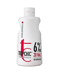 Goldwell Topchic Cream Developer Lotion 20 vol. - Окислитель для краски 6% 80 мл (розлив)