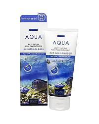 Jigott Natural Aqua Foam Cleansing - Пенка очищающая увлажняющая 180 мл