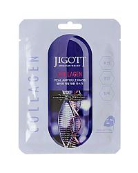 Jigott Collagen Real Ampoule Mask - Маска ампульная с коллагеном 27 мл
