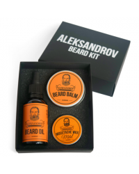 Aleksandrov Beard Kit №01 (Oil Sunrise, Balm Sunrise, Wax Mild Sunrise) - Набор для бороды