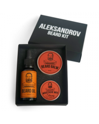 Aleksandrov Beard Kit №03 (Oil Sunrise, Balm Sunset, Wax Strong Sunset) - Набор для бороды