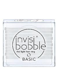Invisibobble BASIC Crystal Clear - Резинка для волос, цвет прозрачный 10 шт