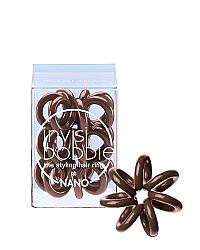 Invisibobble NANO Pretzel Brown - Резинка для волос, цвет коричневый 3 шт