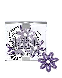 Invisibobble NANO Meow And Ciao - Резинка для волос, цвет мерцающий фиолетовый 3 шт