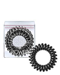Invisibobble POWER True Black - Резинка-браслет для волос, цвет черный 3 шт