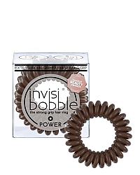 Invisibobble POWER Pretzel Brown - Резинка-браслет для волос, цвет коричневый 3 шт