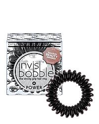 Invisibobble POWER Luscious Lashes - Резинка-браслет для волос, цвет черный металлик 3 шт
