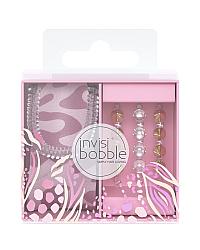 Invisibobble Duo Sauvage Beauty - Подарочный набор, цвет сиреневый/золотой/розовый