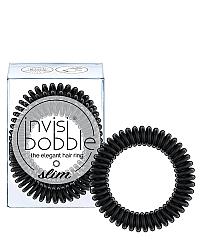 Invisibobble SLIM True Black - Резинка для волос, цвет черный 3 шт