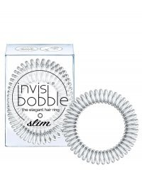 Invisibobble SLIM Chrome Sweet Chrome - Резинка для волос, цвет серебряный 3 шт
