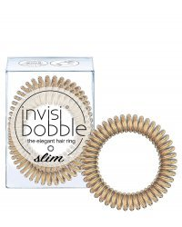 Invisibobble SLIM Bronze Me Pretty - Резинка для волос, цвет бронзовый 3 шт