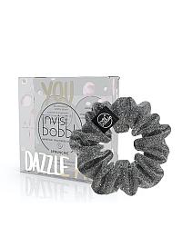 Invisibobble SPRUNCHIE You Dazzle Me - Резинка-браслет для волос, цвет серый с блестками 1 шт