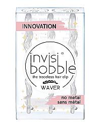 Invisibobble WAVER Sparks Flying - Заколка для волос, цвет прозрачный с блестками 3 шт