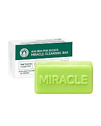 Some By Mi AHA-BHA-PHA 30 Days Miracle Cleansing Bar - Мыло с кислотами для проблемной кожи 100 г