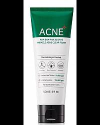 Some By Mi AHA-BHA-PHA 30 Days Miracle Acne Clear Foam - Пенка для проблемной кожи с кислотами 100 мл