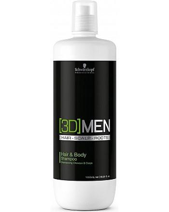Schwarzkopf [3D] Men Hair & Body Shampoo - Шампунь для волос и тела 1000 мл - hairs-russia.ru
