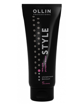 Ollin Style Gel Ultra Strong - Гель для укладки волос ультрасильной фиксации 200 мл - hairs-russia.ru