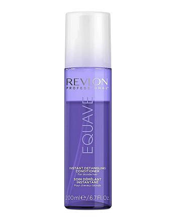 Revlon Professional Equave Instant Beauty Blonde Detangling Conditioner Несмываемый 2-х фазный кондиционер для блондированных, обесцвеченных, мелированных и седых волос 200 мл - hairs-russia.ru