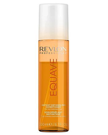 Revlon Professional Equave Instant Beauty Sun Protection Detangling Conditioner Несмываемый 2-х фазный кондиционер мгновенного действия, облегчающий расчесывание волос, подверженных воздействию солнца 200 мл - hairs-russia.ru