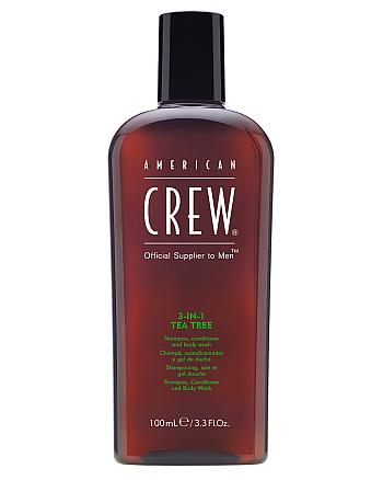 American Crew 3 in 1 Tea Tree - Средство по уходу за волосами и телом 100 мл - hairs-russia.ru