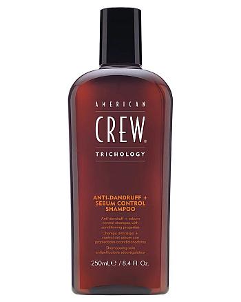 American Crew Anti-Dandruff+Serum Control Shampoo - Шампунь против перхоти, 250 мл - hairs-russia.ru