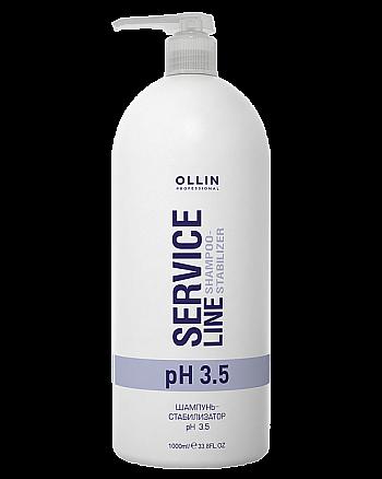 Ollin Service Line Shampoo-Stabilizer Ph 3.5 - Шампунь-стабилизатор рН 3.5 1000 мл - hairs-russia.ru