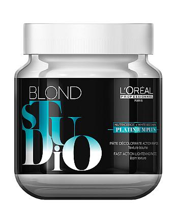 L`Oreal Professionnel Blond Studio Platinium Plus - Осветляющее паста Платиниум плюс, 500 гр - hairs-russia.ru