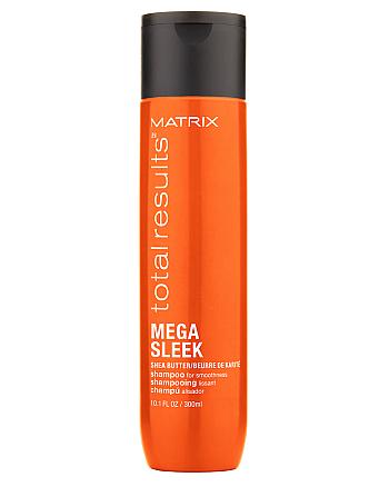 Matrix Total Results Mega Sleek Shampoo - Шампунь для гладкости непослушных волос с маслом ши, 300 мл - hairs-russia.ru