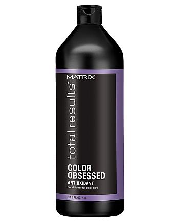Matrix Total Results Color Obsessed Conditioner - Кондиционер для защиты цвета окрашенных волос с антиоксидантами, 1000 мл - hairs-russia.ru