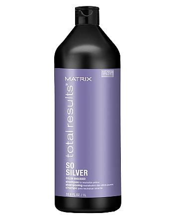 Matrix Total Results Color Obsessed So Silver Shampoo - Шампунь для нейтрализации желтизны, 1000 мл - hairs-russia.ru