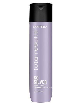 Matrix Total Results Color Obsessed So Silver Shampoo - Шампунь для нейтрализации желтизны, 300 мл - hairs-russia.ru
