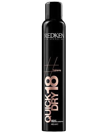 Redken Quick Dry 18 - Спрей средней степени фиксации для сохранения формы в течение дня 400 мл - hairs-russia.ru