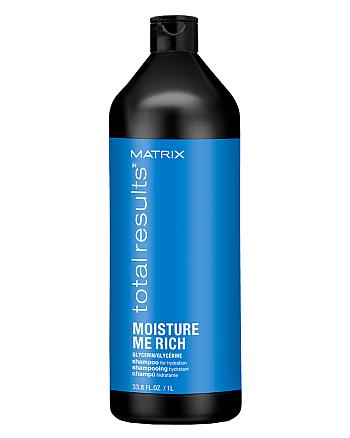 Matrix Total Results Moisture Me Rich Shampoo - Шампунь для увлажения сухих волос с глицерином, 1000 мл - hairs-russia.ru