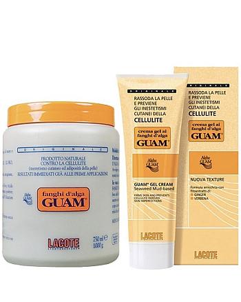 Guam Fanghi D'Alga Набор для обертывания: Маска антицеллюлитная + Гель-лифтинг укрепляющий 2000 г + 500 мл - hairs-russia.ru