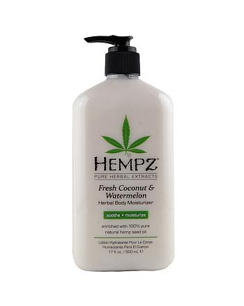 Hempz Fresh Coconut and Watermelon Herbal Moisturizer - Молочко для тела увлажняющее Кокос и Арбуз 500 мл