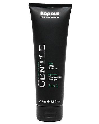Kapous Professional Gentlemen Shampoo - Мужской тонизирующий шампунь 3 в 1 250 мл