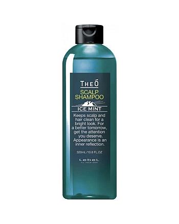 Lebel Theo Scalp Shampoo Ice Mint - Шампунь для мужчин с водой альпийских ледников 320 мл - hairs-russia.ru